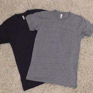 4/$25 - 2 Men's front Pockets T's